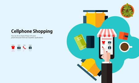 pocket book: illustration background flat design shopping