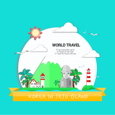 an island tradition: Landmark illustration