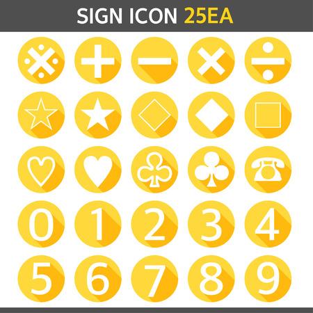 basic letters: Sign Icon Set