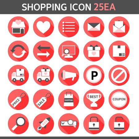 general merchandise: shopping icon set