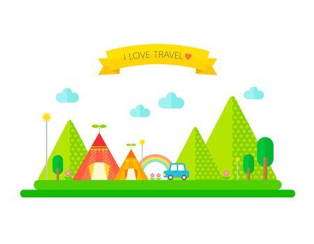 illust: Illustration camping event