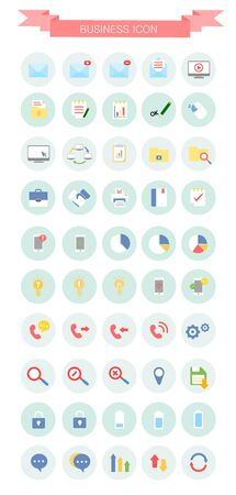 package printing: business flat icon package Illustration