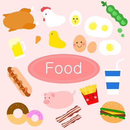 illust: Food icon package