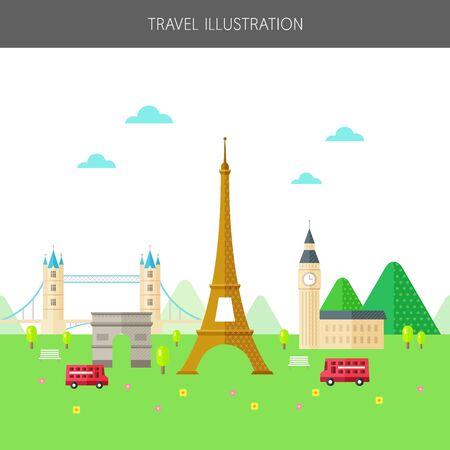 illust: European landmarks