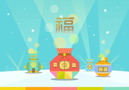 illustrationkorea 伝統的な日  イラスト・ベクター素材