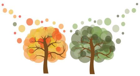illust: illustrationTwo trees imgage