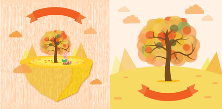 the season: illustrationfall season Illustration