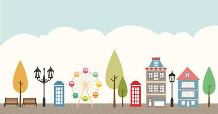 illust: backgroundscenery of the city