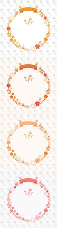 circle shape: flower circle shape chaplet templet