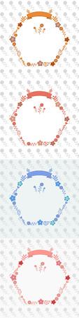 chaplet: flower hexagon shape chaplet templet