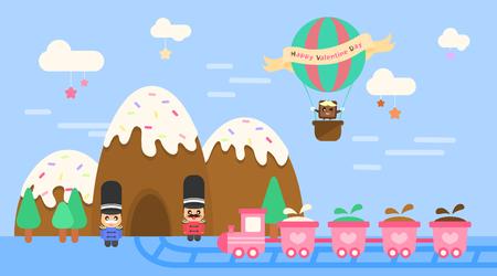 chocolatería: soldados de juguete y el templete fábrica de chocolate Vectores