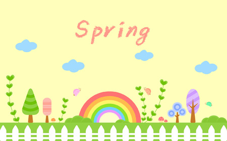 sunny spring day templet Vector