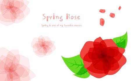 illust: spring rose templet