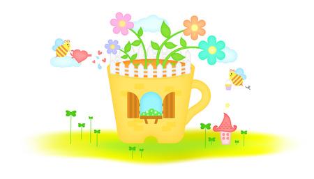 flowerpot: Bee flowerpot to live in templet