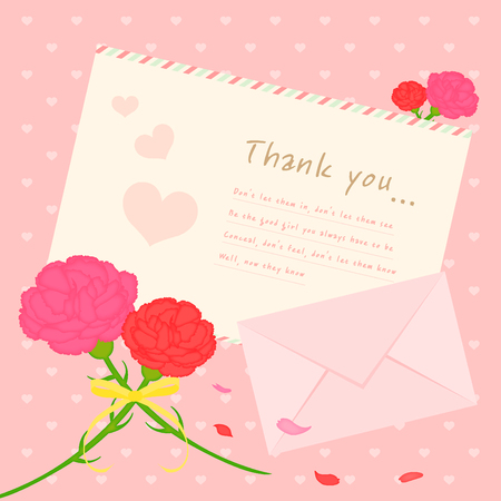 carnations: Carnations and letter templet