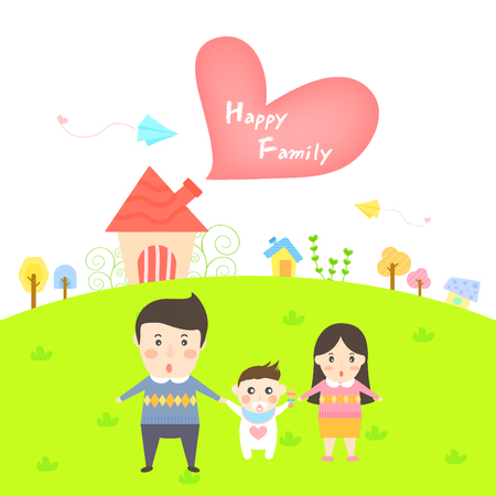 Happy family templet