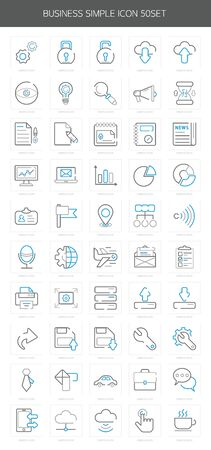 icons site search: Business Line Icon