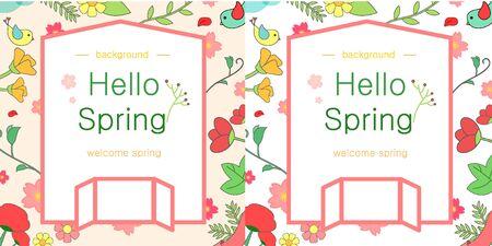 illust: spring event template