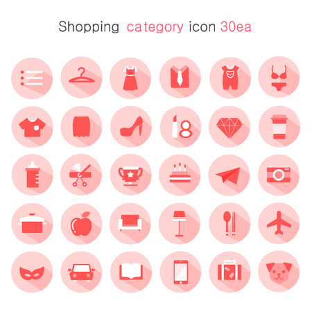 category: shopping category icon package