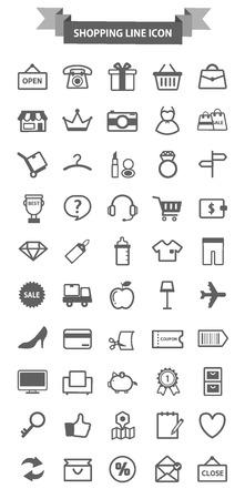 haert: shopping line icon package