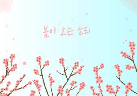 illust: illustrationspring flower image