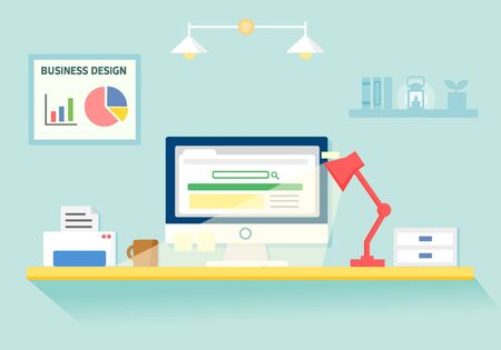 illust: illustration business desk
