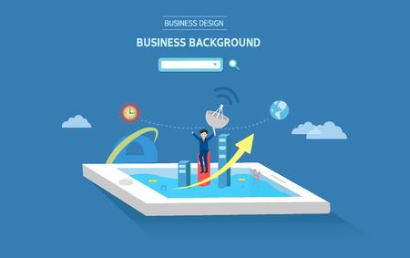 illust: background business image Illustration