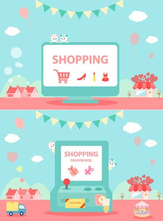 illust: shopping event template
