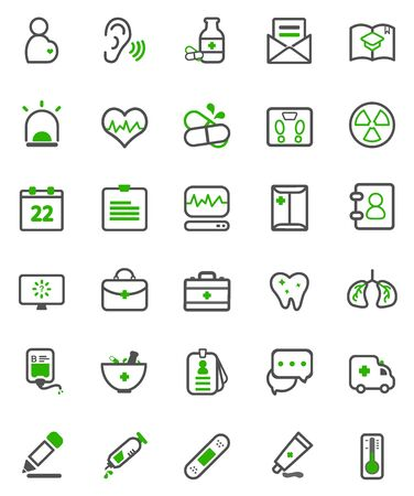 neatness: vector illustration of hospital and medical icon package Illustration