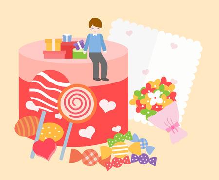 boyfriends: illustrationwhite day event template