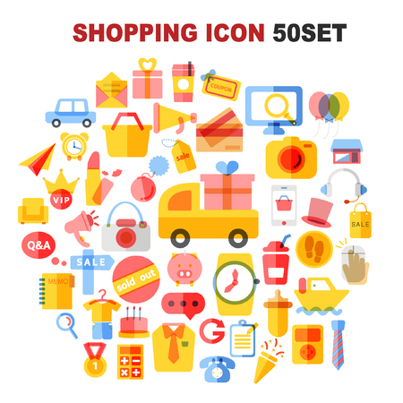 open shirt: shopping icon package