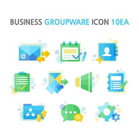 groupware: negocio groupware paquete de iconos