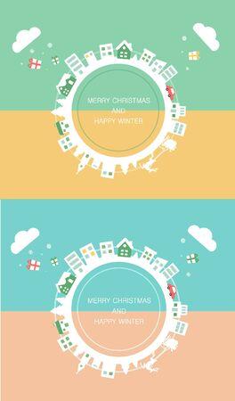 illust: illustration happy christmas image Illustration