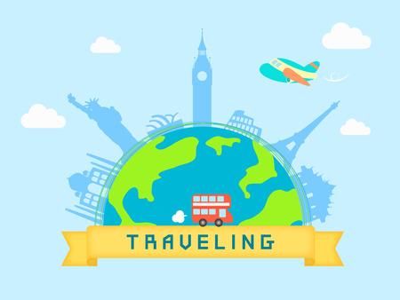 illust: Overseas Travel template