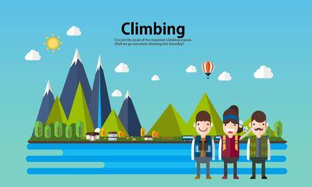 human source: leisure illustration climbing