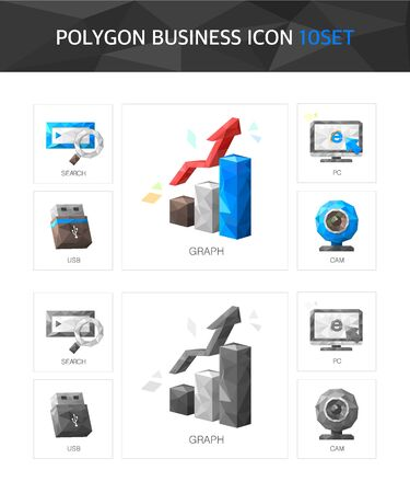 illust: Shiny Business polygon icon package