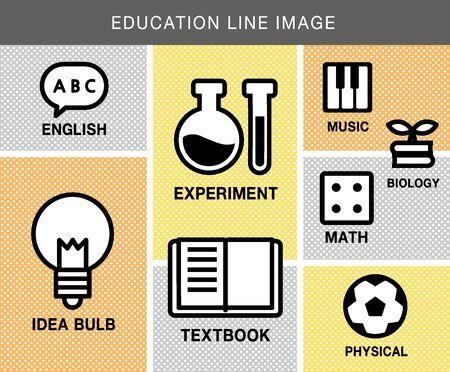 illust: education line icon package Illustration