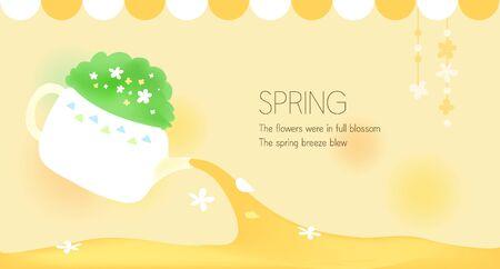 illust: backgroundspring flower image