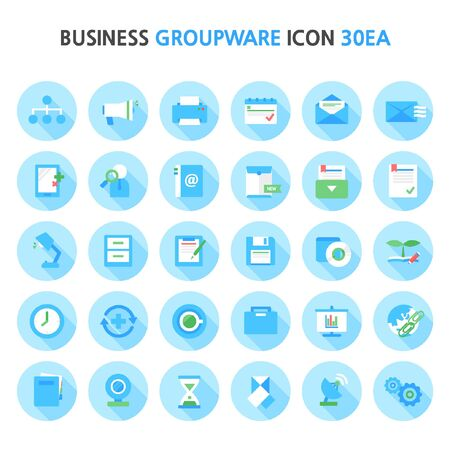 conferencing: business groupware icon package