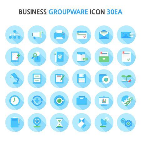 groupware: business groupware icon package