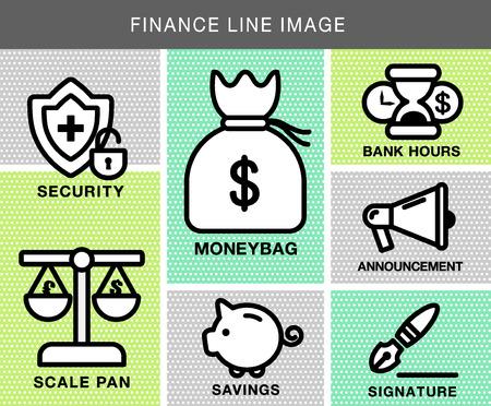 Financial Lines Icon Vector