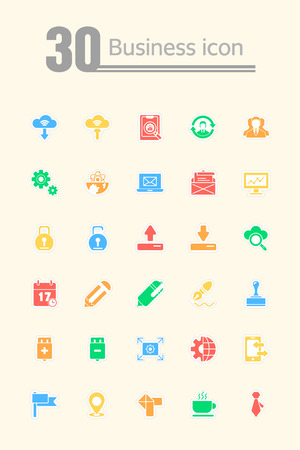 diligence: business icon set