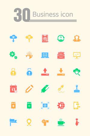 associates: business icon set