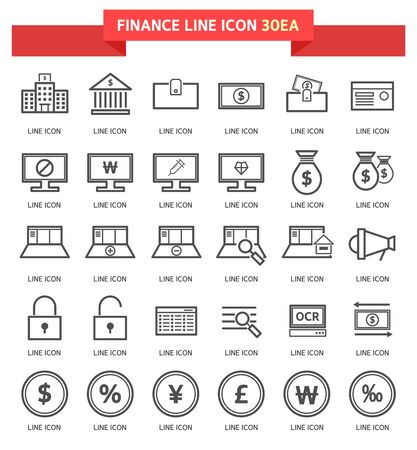 coin purses: Finance Icon Set Illustration