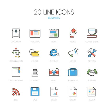 tabletpc: Business line Icon set