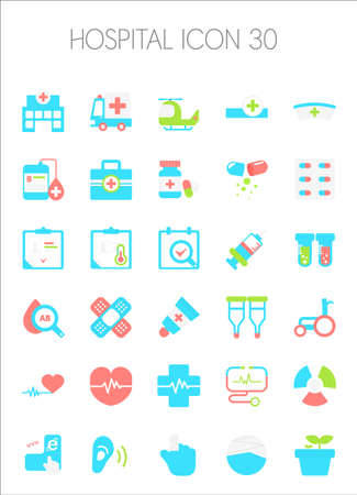 firstaid: Hospital Icon Set Illustration