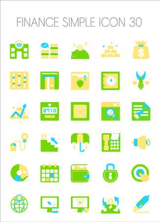 signup: Finance Icon Set Illustration