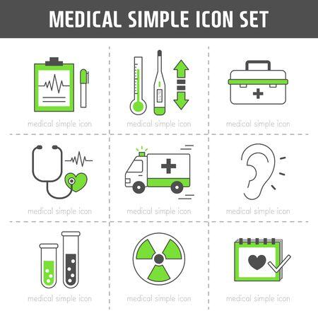 intravenous: Medical Simple Icon Set