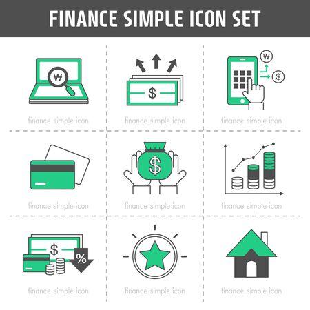 Finance Simple Icon Set