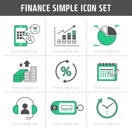 inquiry: Finance Simple Icon Set
